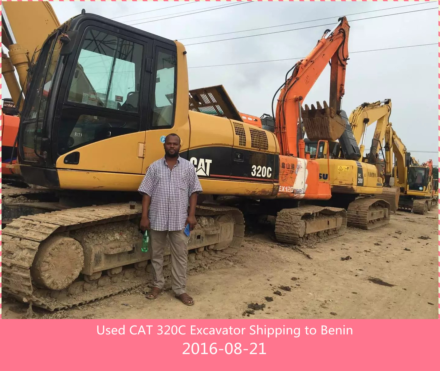 Used CAT 320CL Excavator Shipping to Benin