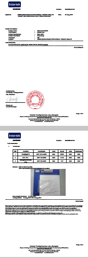 INTERTEK TEST REPORT