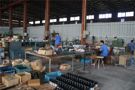 Production line on Pneumatic wrench
