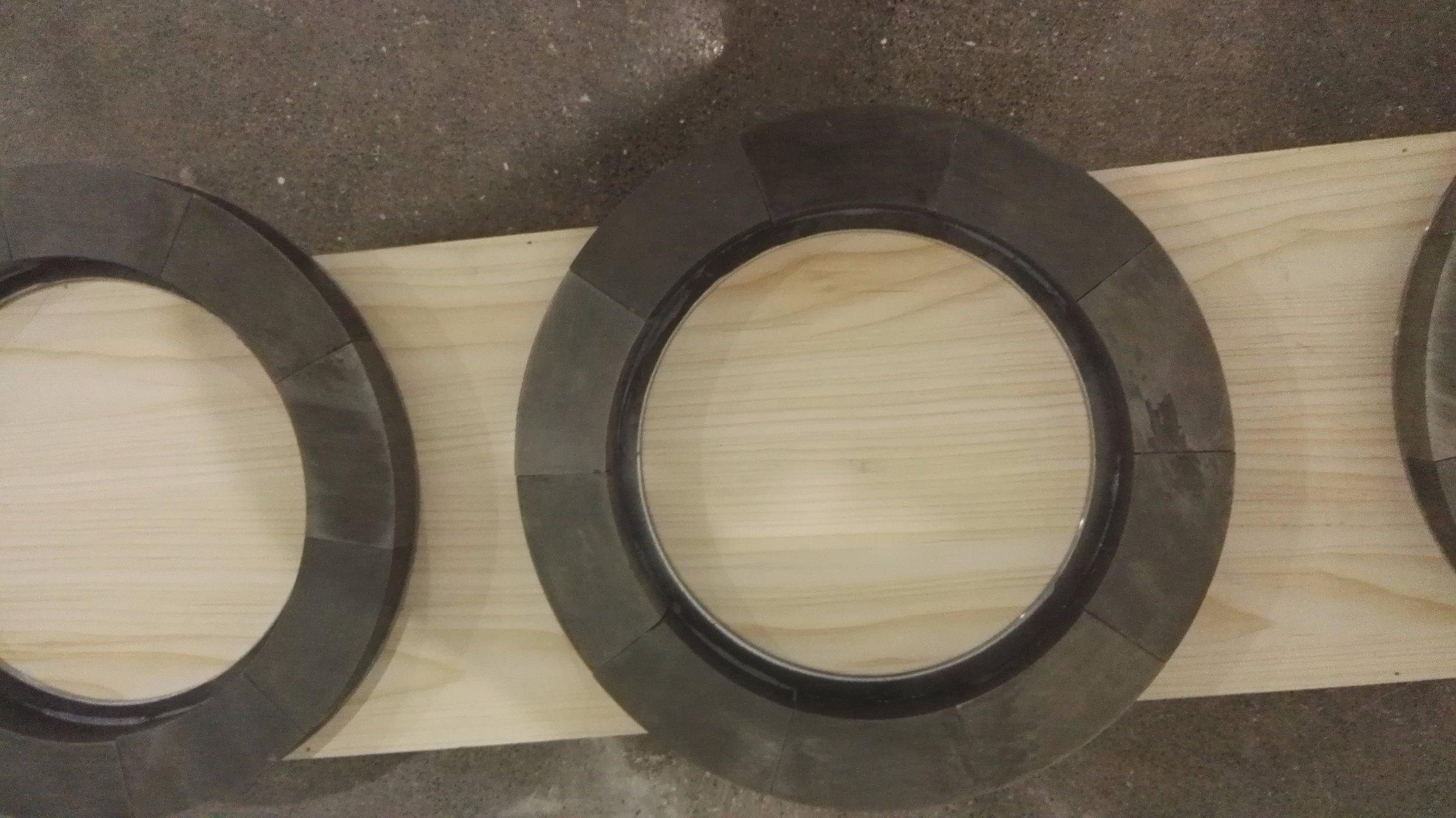 Glued Big ring magnets OD380 for magnetic separator