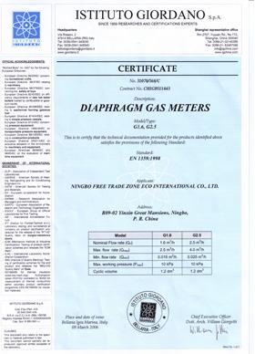 EN1359 for Gas Meter
