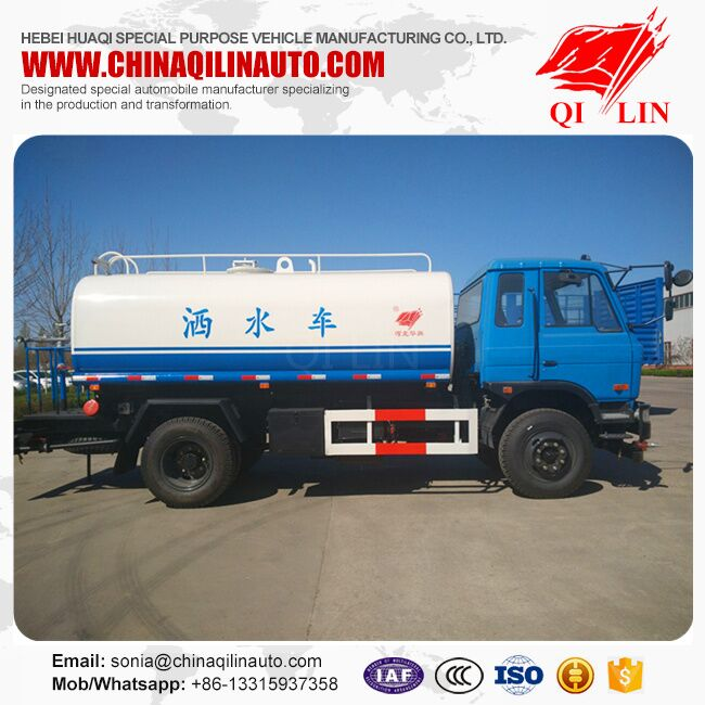 3 persons cab Dongfeng chassis water tank sprinkler
