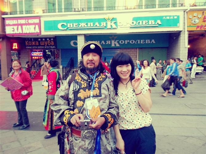 Mongolian customers in Manzhouli