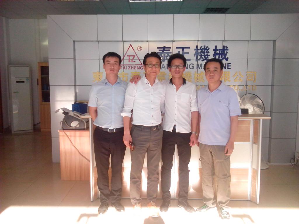 group photos with Korea customer