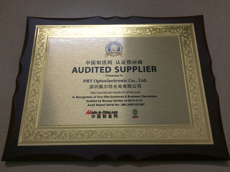 Audited Supplier by BV