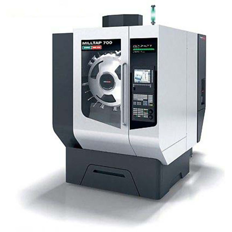 NC machining tool and workpiece clamping