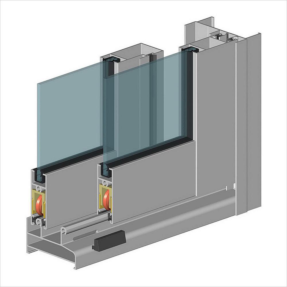 987series aluminum sliding window for waterproof
