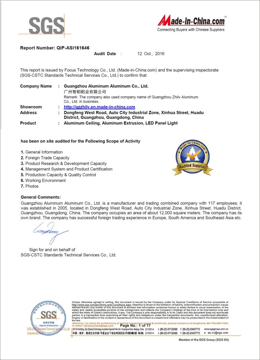 SGS Ceitification