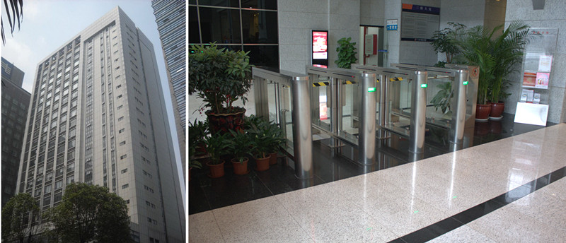 Bank Office Building Tower Speed Gate Tunrstile in Guangzhou