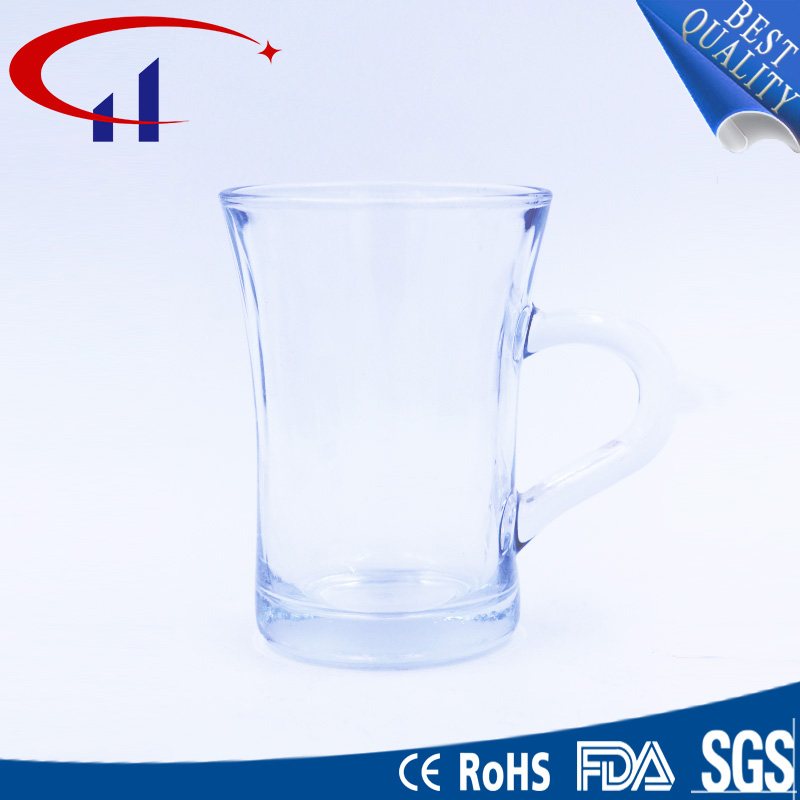 220ml Cylinder Water Glass Cup with Hand (CHM8160)