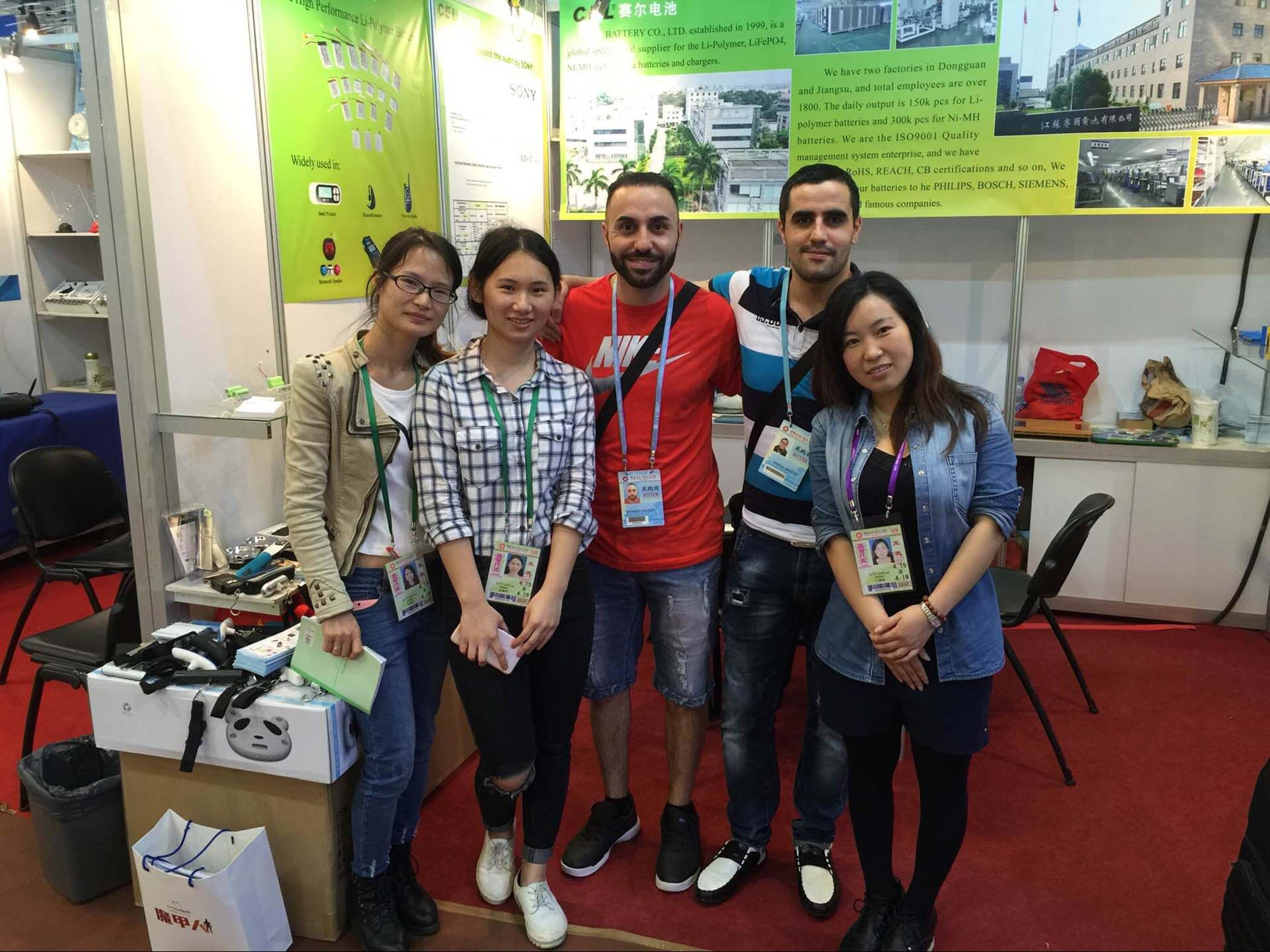 Canton fair with our company colleague