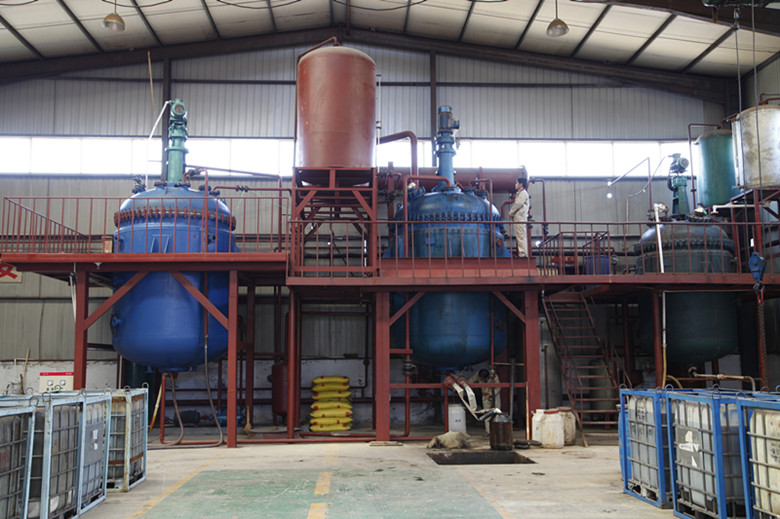 Furan resin production line