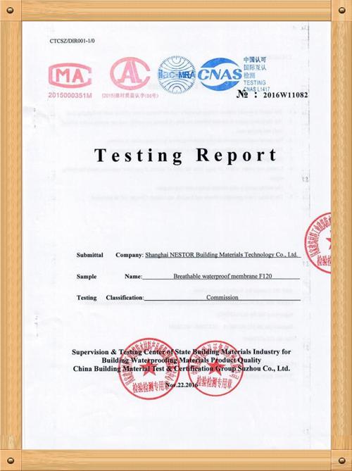 TESTING REPORT F-120