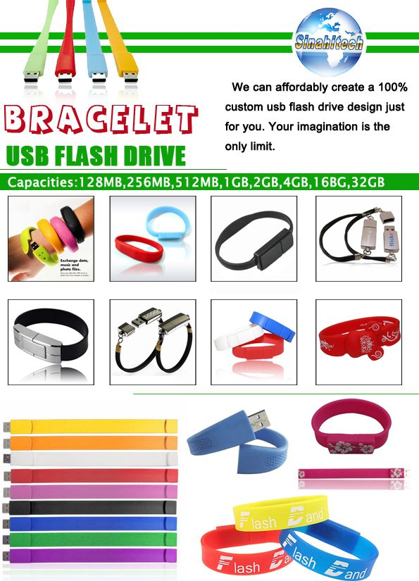 Products Catalogue-Bracelet USB Flash Drives