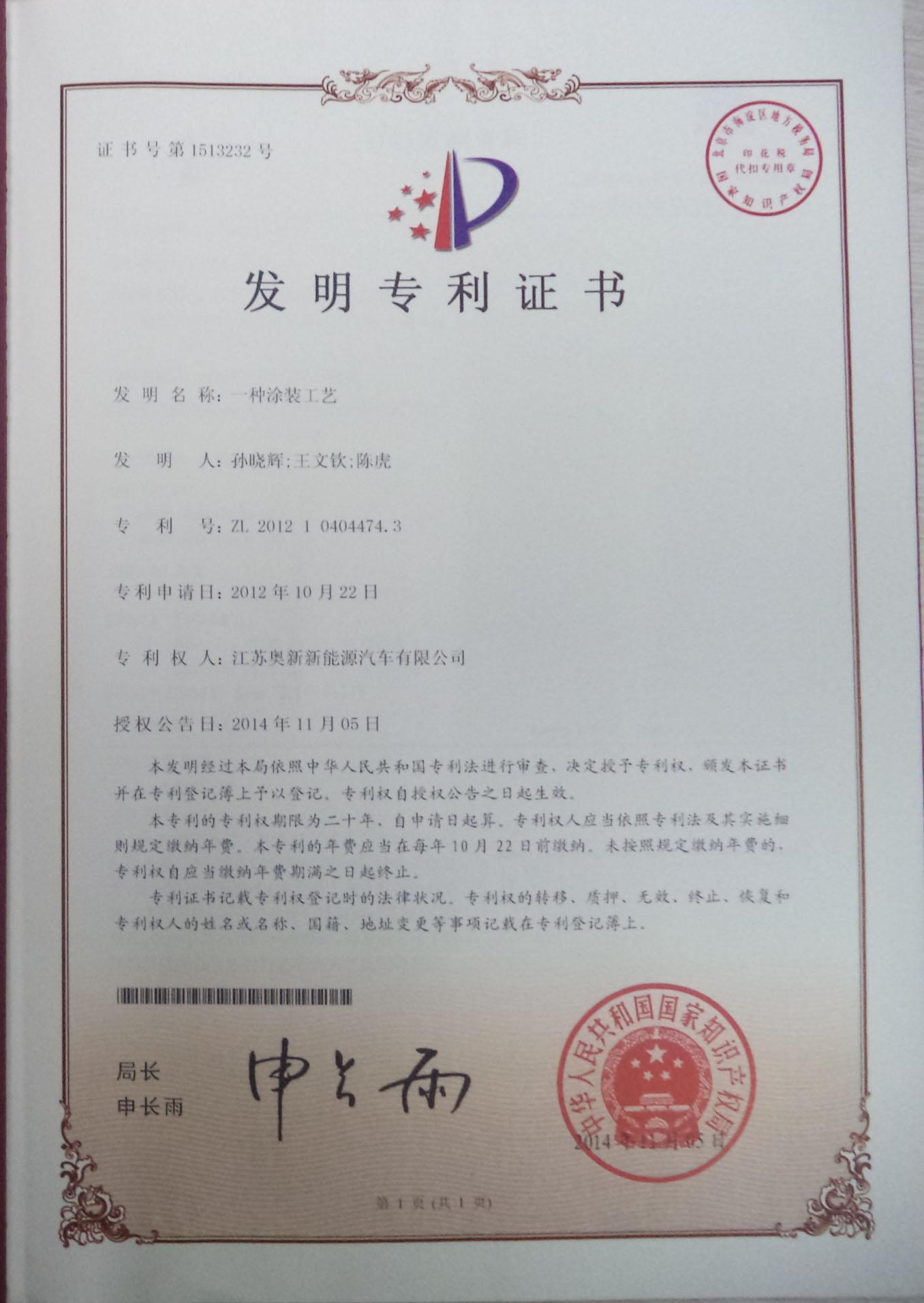 Painting Process Design Patent