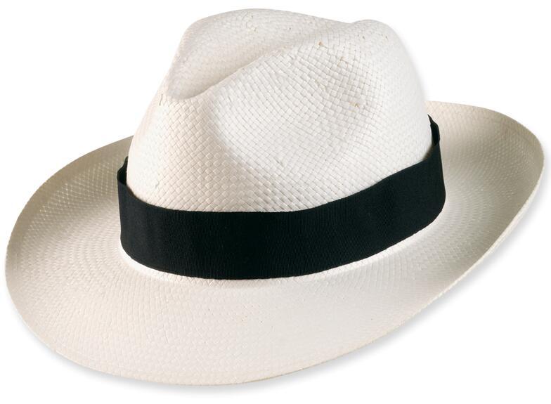 White Panama Fedora Paper Straw Hats