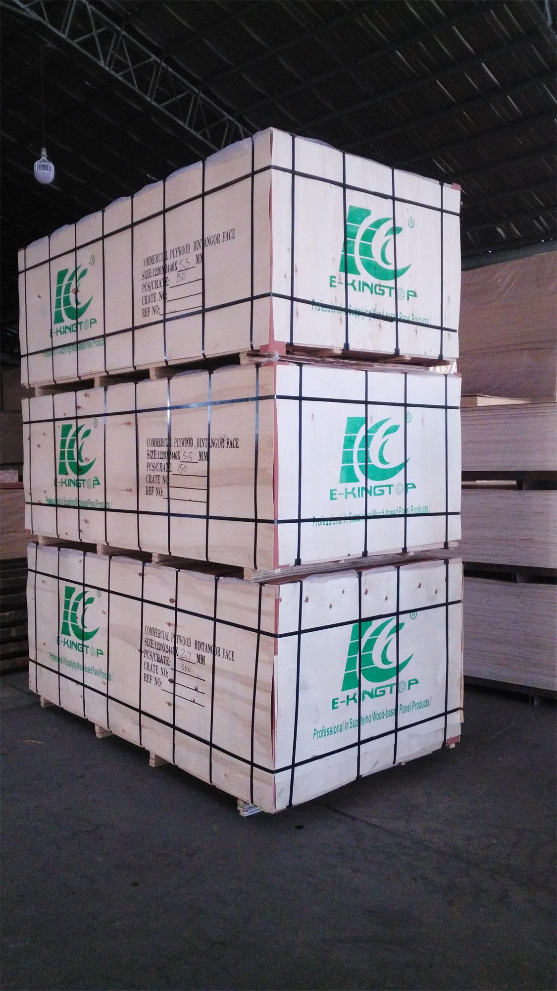 2.7mm Bintangor Plywood export packment