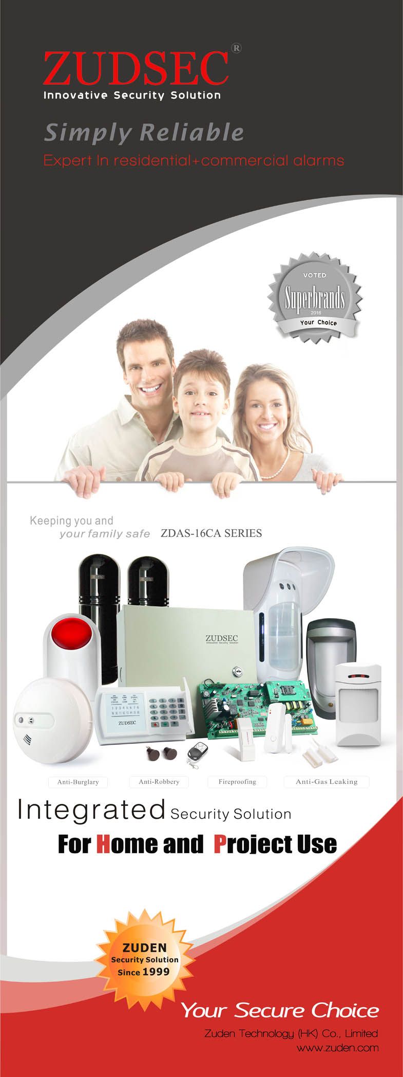 GSM & PSTN Dual-Net Alarm System -Residential/Commercial Project
