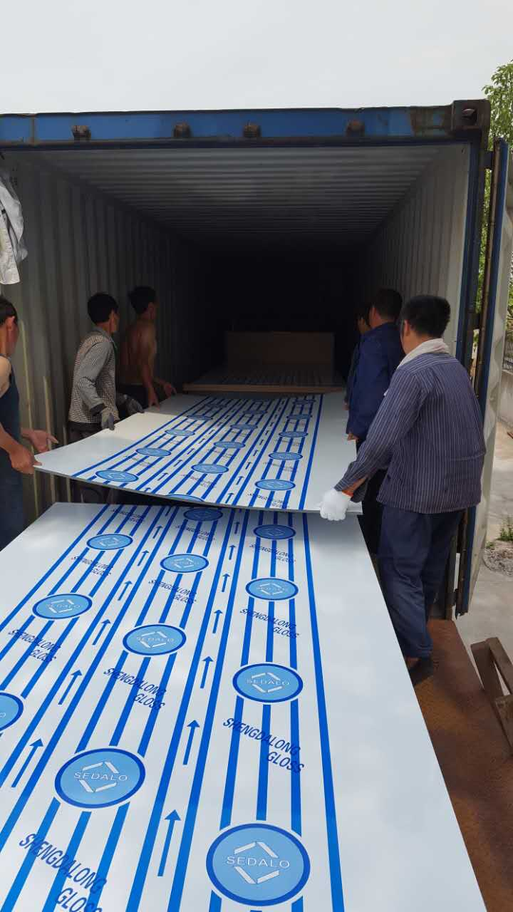 PMMA loaded in one 40GP container