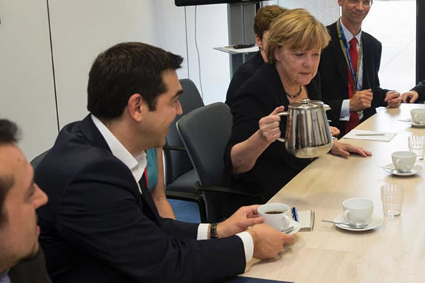 Solidware Double Wall Coffee Jugs Used on EU Summit