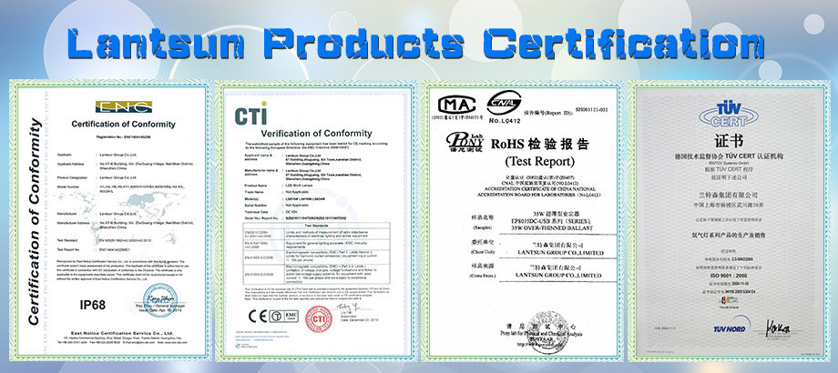 Lantsun Certificates