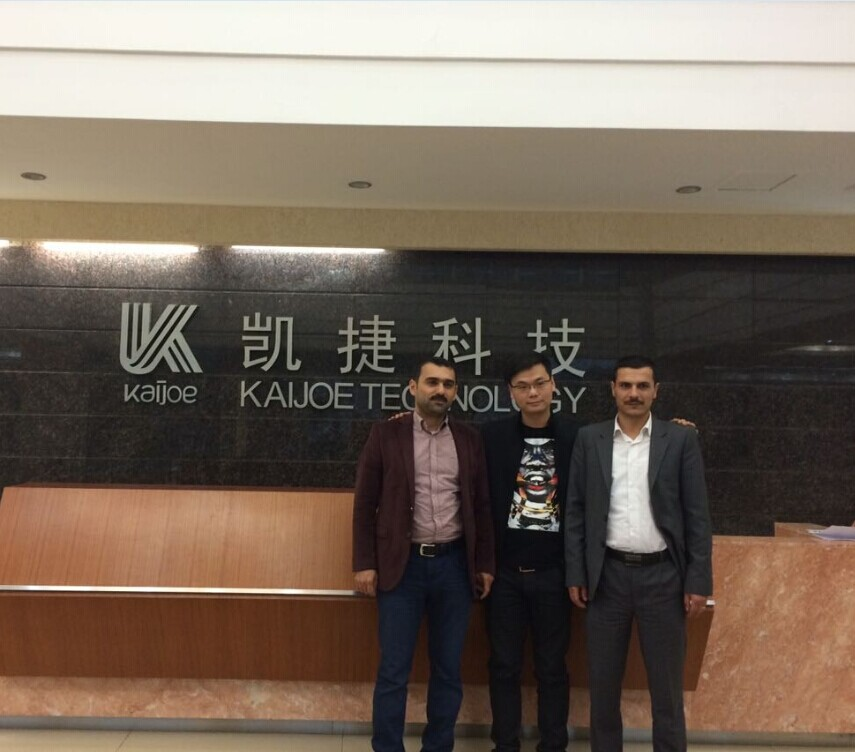 Iraq customer visit our factory
