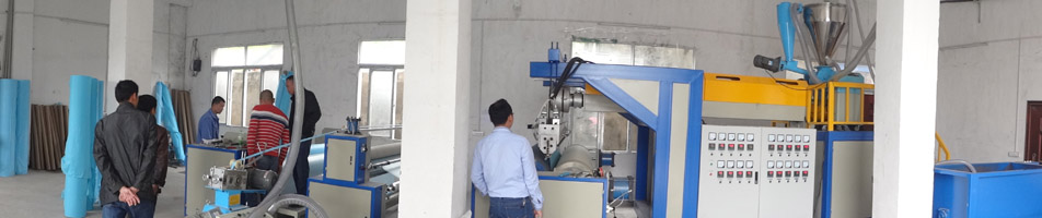 CPE thumb gown machine