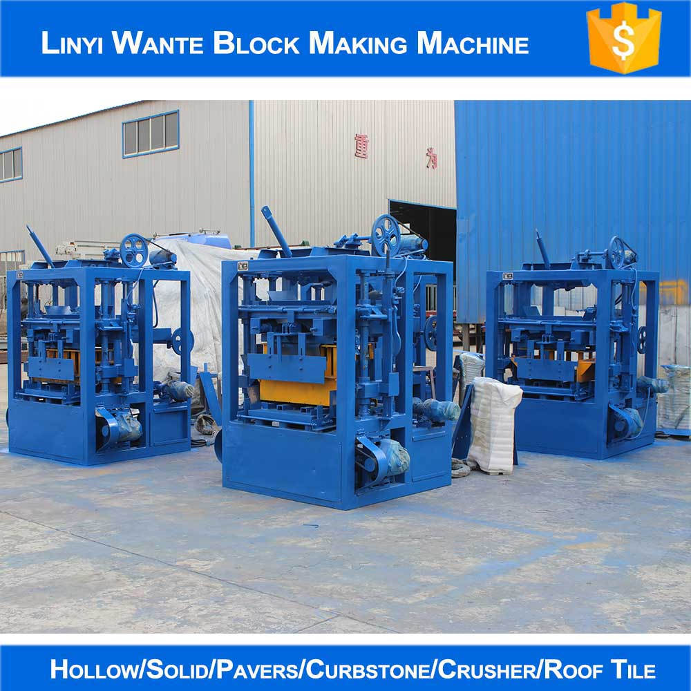 WANTE MACHINERY Four sets QT4-24 block making machine line delivering to Columbia