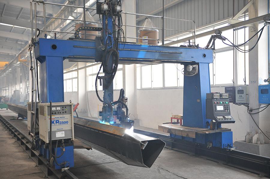 Double folded gantry welding machine