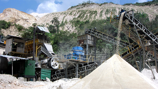 150t/h fixed limestone sand making production line in Malaysia