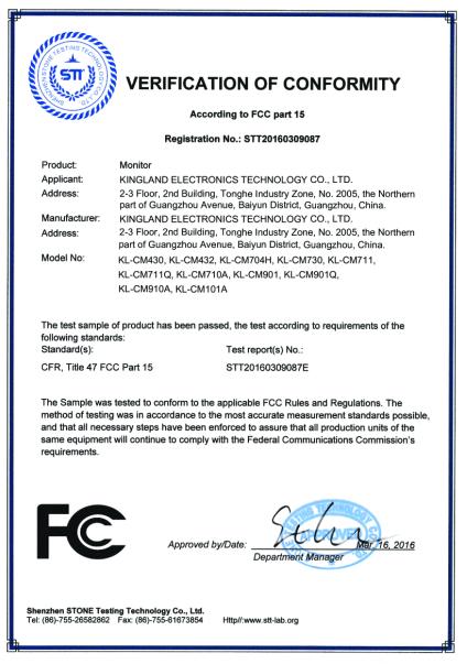 FCC Certificate-Monitor