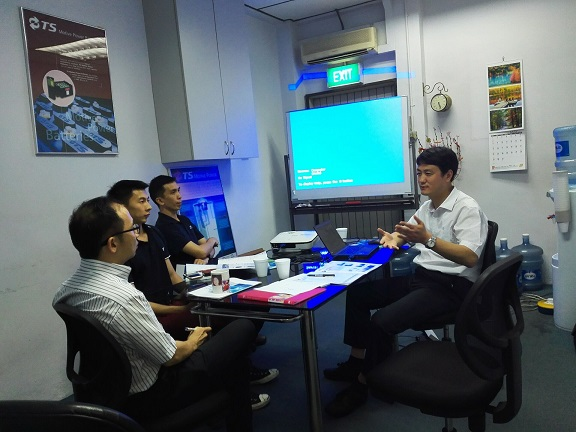 Singapore customer visit us for factory training