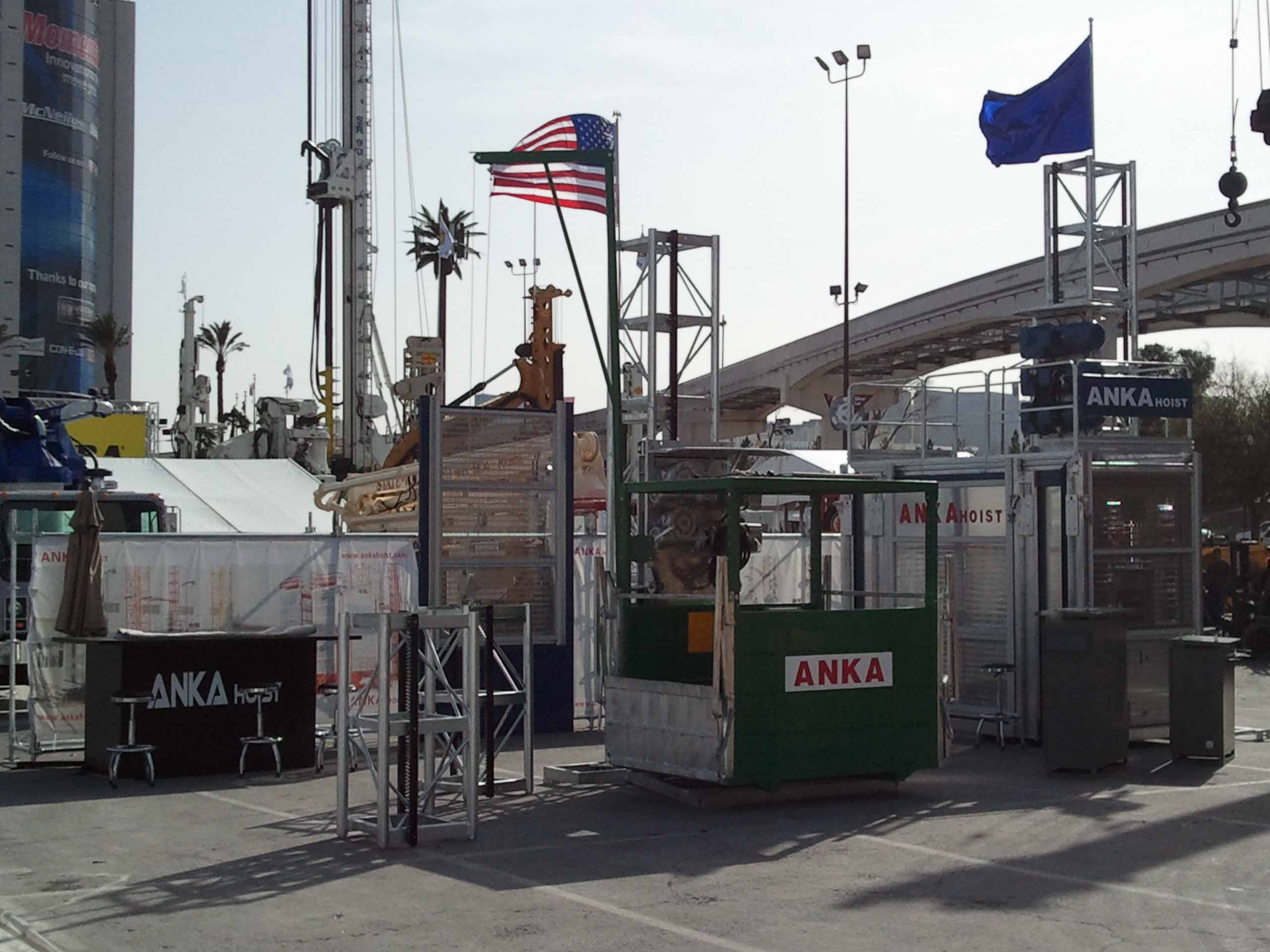 ANKA HOIST shows on LAS VEGAS ConEXpo Fair in America.
