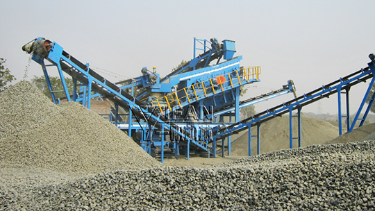 200t/h mobile granite crushing and screening production line in India