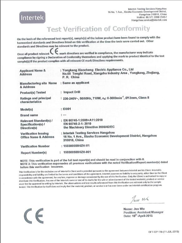 ID001 IMPACT DRILL CE