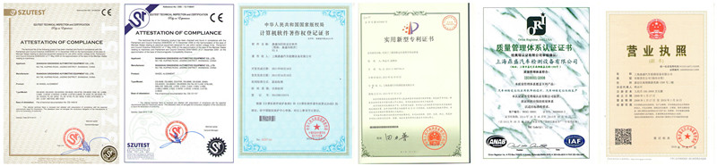 CE and ISO certificates