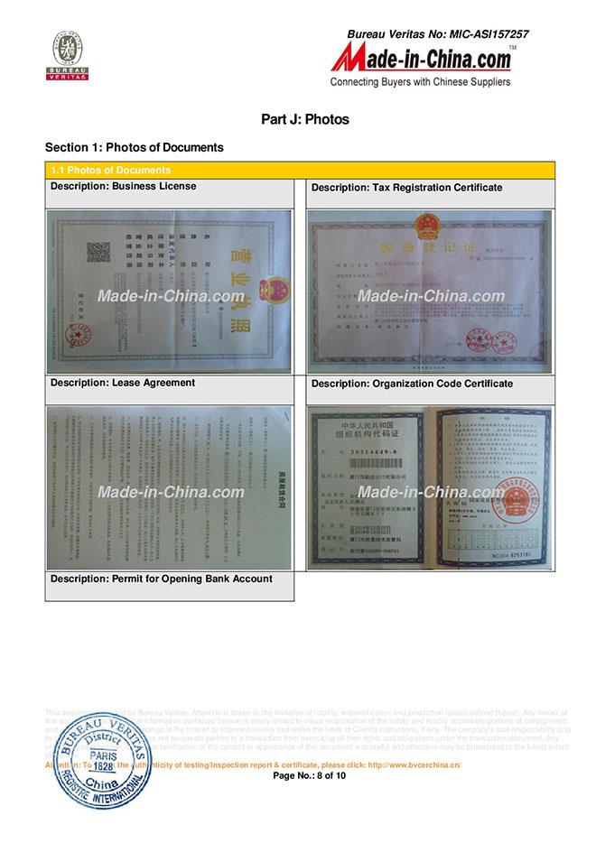 BSCI Certificate