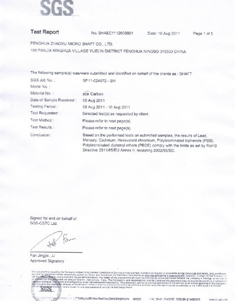 SGS Test Report 1