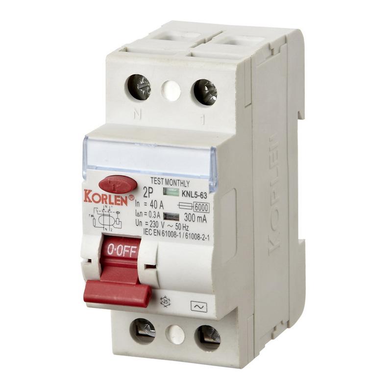 RCCB; Residual Current Circuit Breaker (KNL5)