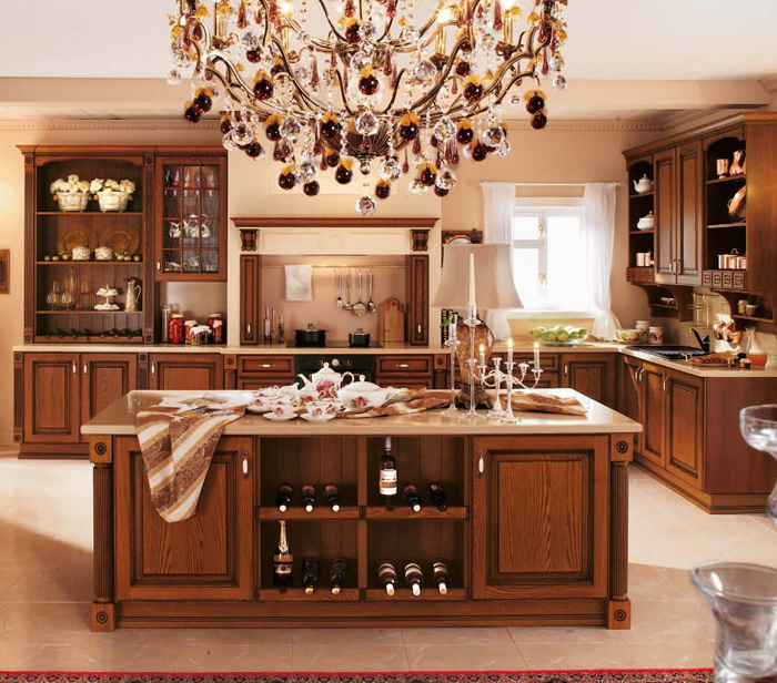 Ritz 2014 Mediterranean Style Solid Wood Modern Kitchen Cabinets