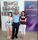 India client to visit our factory for powder coating line