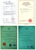 Manufacturing license, quality & safety certificate