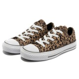 Low Cut Comfortable Brown Leopard Canvas Shoes with Cheap Prices