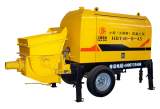 Coups of clean the hopper of small concrete pump