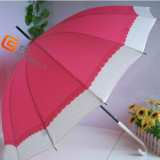 Two Colors Joined Leather Coated Handle Sun Umbrella (YS-1010A)