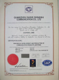 IS9001:2008 certificate