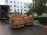 Motorcycle inner tube box and carton loading container
