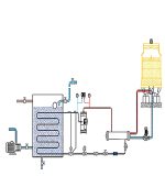 water cooled screw chiller working diagram
