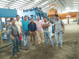 ZCJK block making machine installation in South America