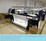 Latest Auto Flat knitting machine with high speed and efficency